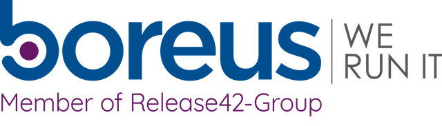 Logo von Boreus – we run it